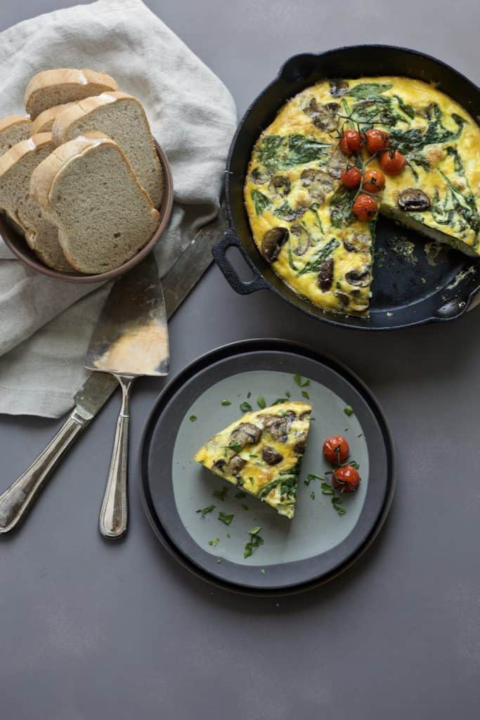 vegetable frittata mediterranean diet breakfast ideas