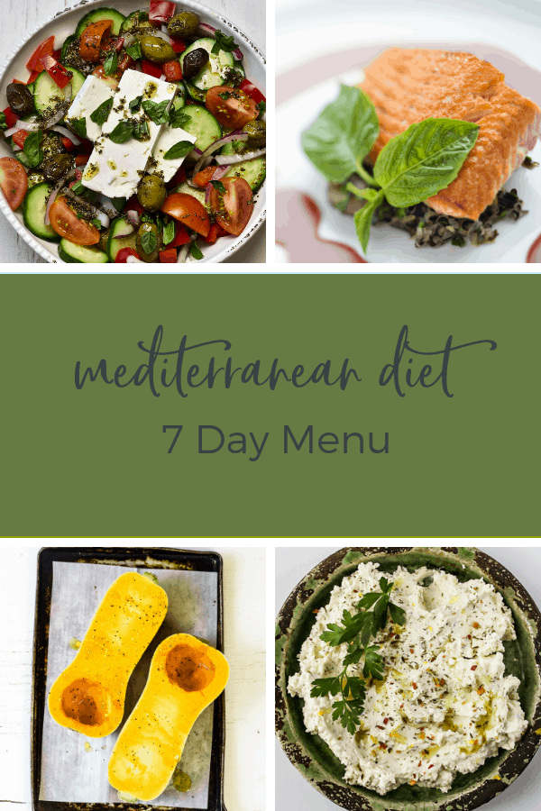 mediterranean diet weekly meal plan recipes and dinner ideas