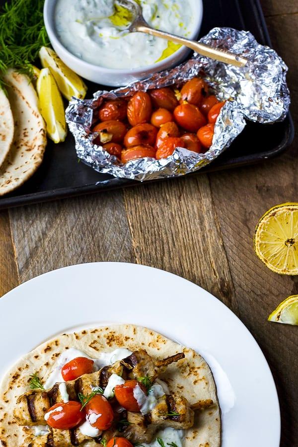 authentic greek chicken souvlaki
